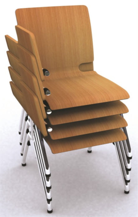 Flaxo Plywood Chair with Writing Tablet