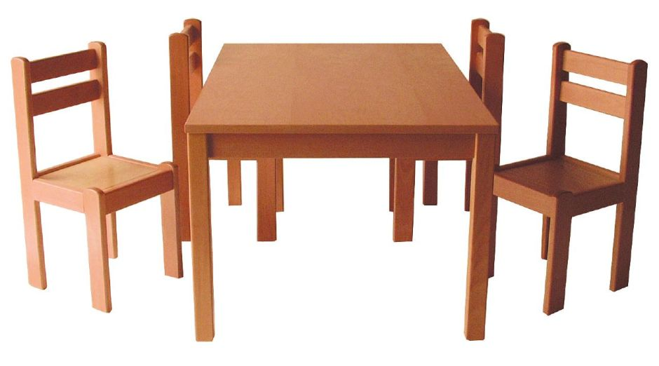 Forest Solid Wooden Classroom Tables