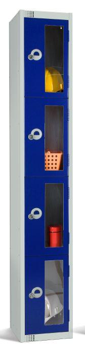 Four Door Locker with Vision Panels 300mm deep