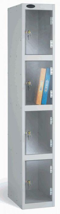 Four Door Lockers with Clear Doors