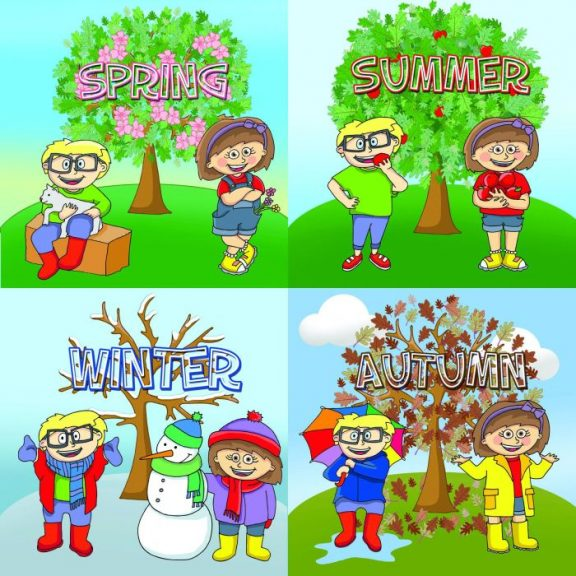 Four Seasons Tree Sign Set