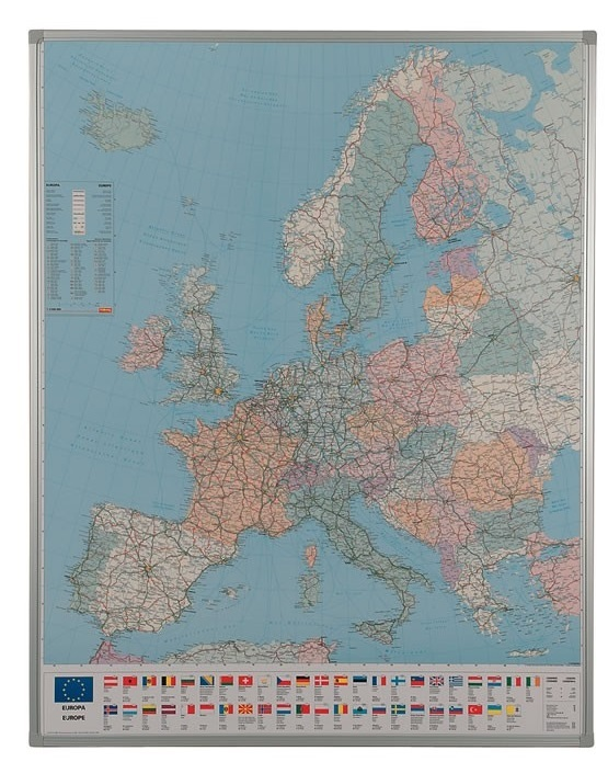 Framed Drywipe Maps