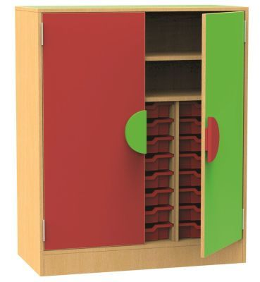 Funky Mid Height Tray Storage Cupboard