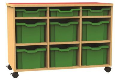 Funky Mobile Triple Bay Mixed Tray Storage