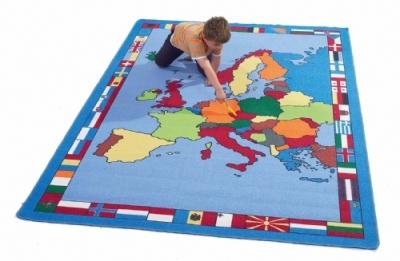 Giant European Map Rug