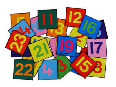Giant Floor Tiles Numbers 1-24