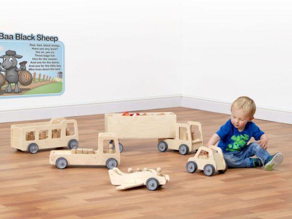 Giant Wooden Vehicle Set