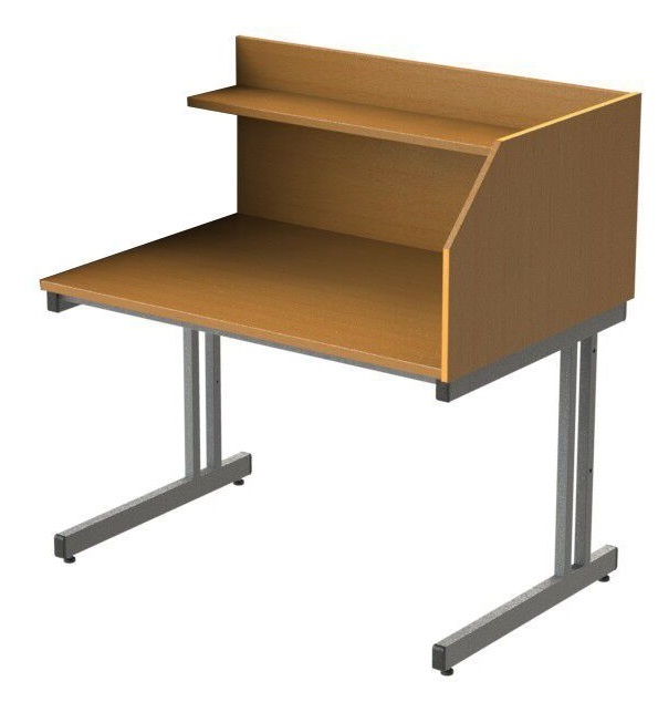 GM Cantilever Study Carrel Add on Desk