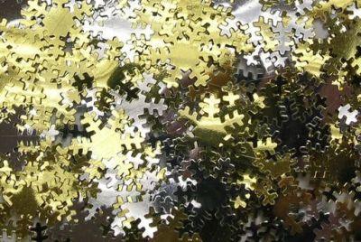 Gold, Silver & White Snowflakes