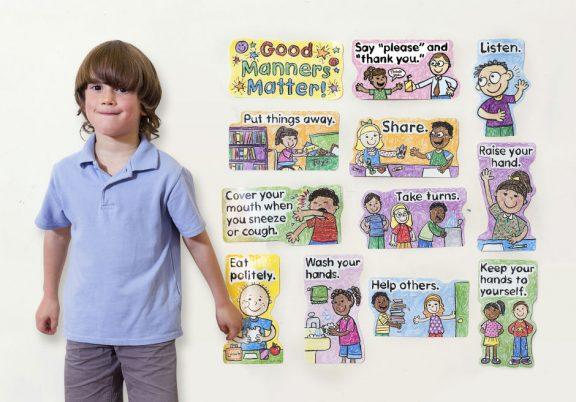 Good Manners Matter: Kid Drawn Bulletin Board Pack