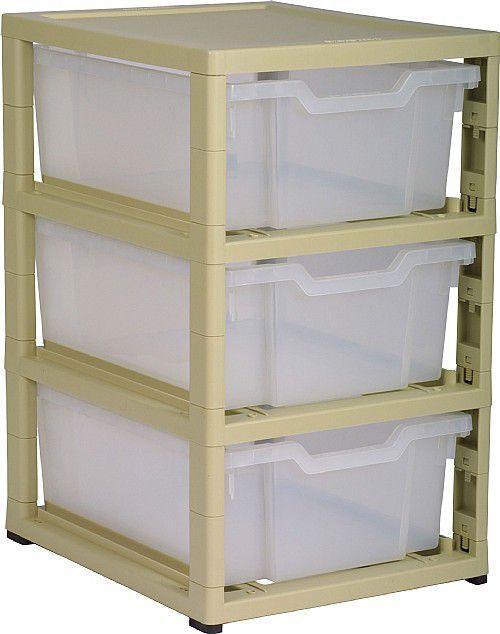 Grat Stack Single Column 3 Deep Trays