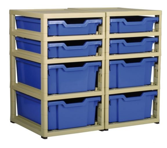 Grat Stack Two Column 4 Deep Trays and 4 Shallow Trays