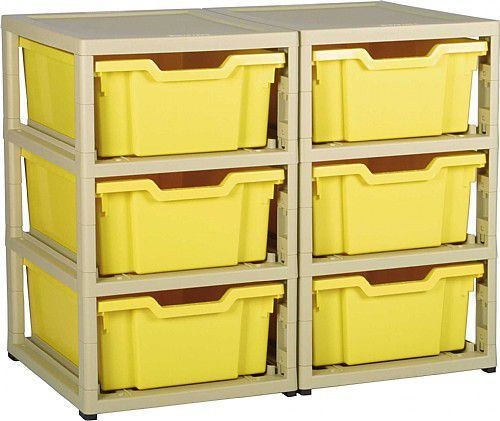 Grat Stack Two Column and 6 Deep Trays
