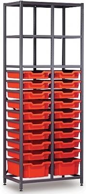Gratnells 2 Column Storage Rack with 20 Trays