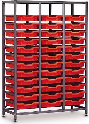 Gratnells 3 Column Mid Storage Rack with 36 Trays