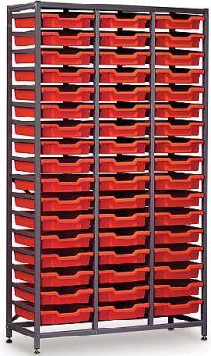 Gratnells 3 Column Storage Rack with 51 Trays