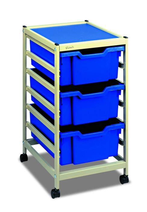 Gratnells Single Column Classroom Trolley - Deep Trays