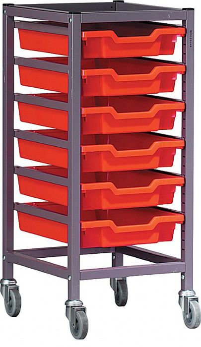 Gratnells Single Column Trolley with Six Trays