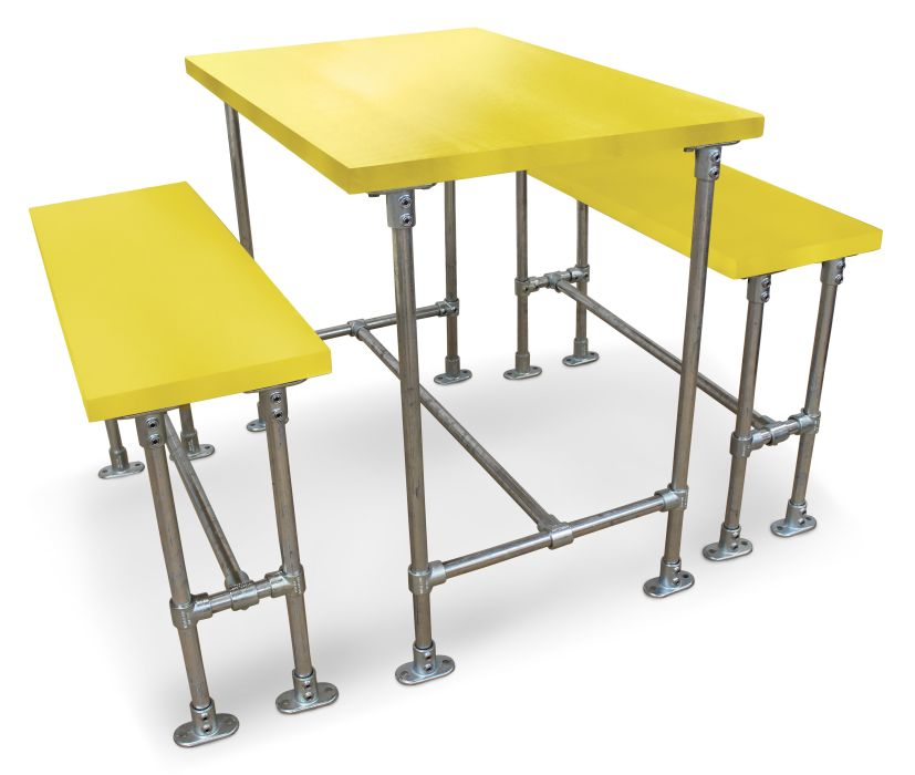 Hayles Scaffold Bar Height Dining Set - Laminate Tops