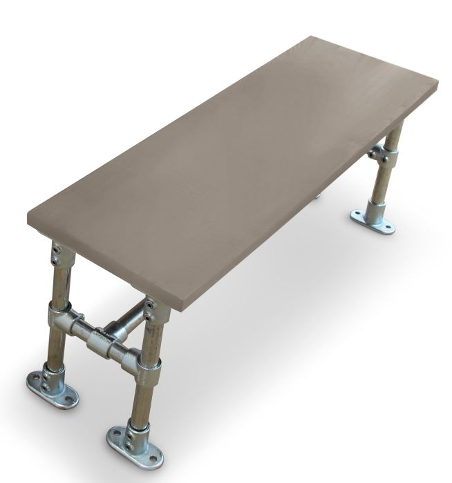 Hayles Scaffold Dining Height Bench- Laminate Top