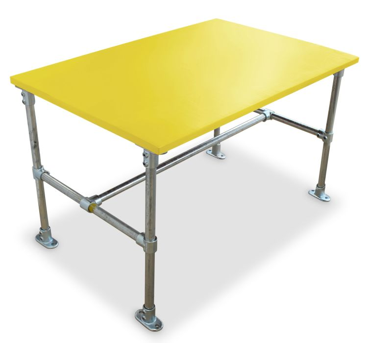 Hayles Scaffold Dining Height Table - Laminate Top