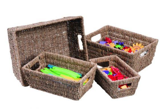 Helios Seagrass Square Basket Set