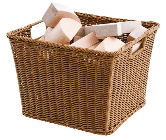 Helios Square Woven Plastic Basket