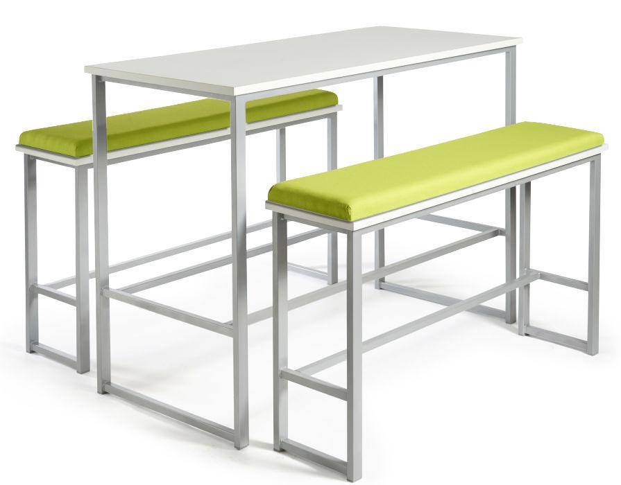 Hermes Bar Height Bench Set - Upholstered Seats