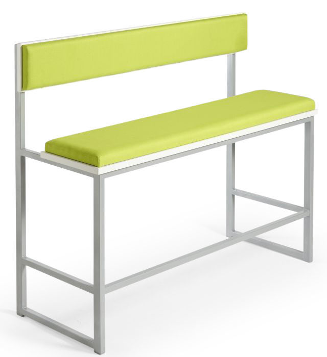 Hermes Bar Height Upholstered Bench with Back