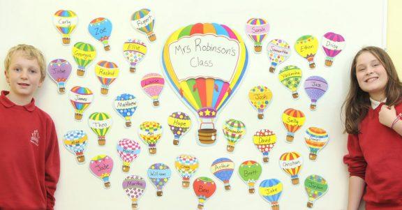 Hot Air Balloons Bulletin Board
