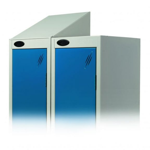 Integral Sloping Top for Probe Lockers