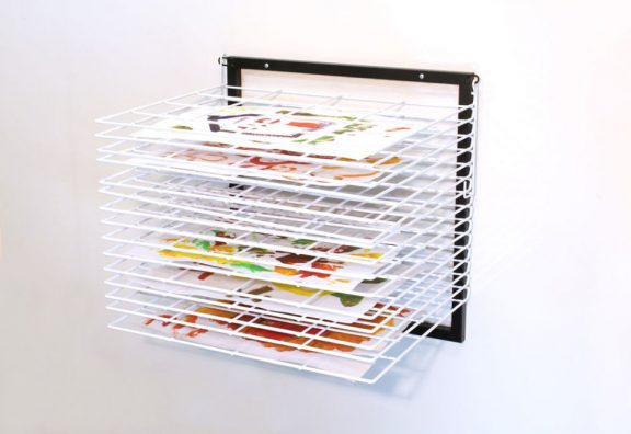 Itex 15 Shelf Wall Mounted Drying Rack - Spring Loaded