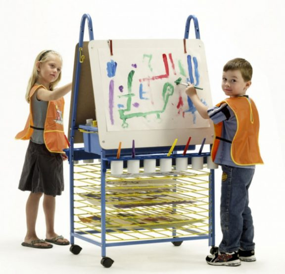 Itex Double Sided Easel with Drying Rack