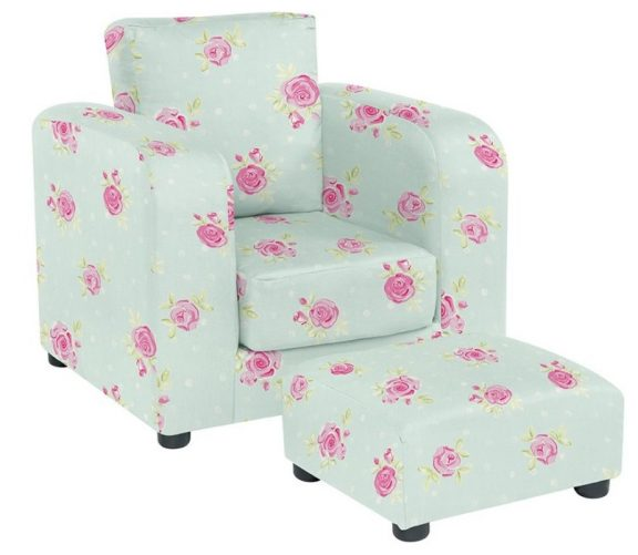 JK Country Flowers  Armchair and Footstool