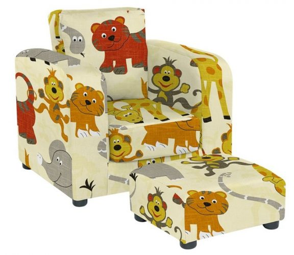 JK Jungle Party Armchair and Footstool
