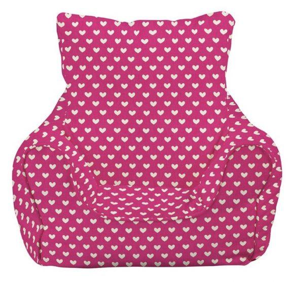 JK Pink Hearts Bean Bag Chair