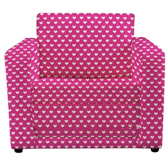 JK Pink Hearts Chair Bed
