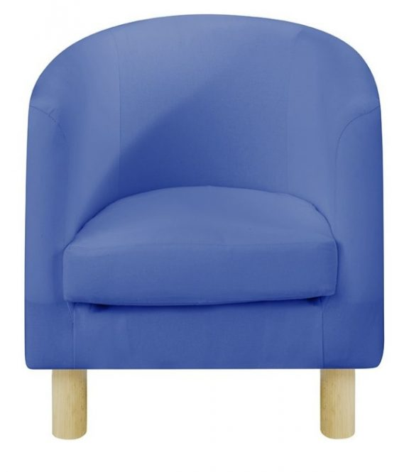 JK Plain Blue Children's Tub Chairs