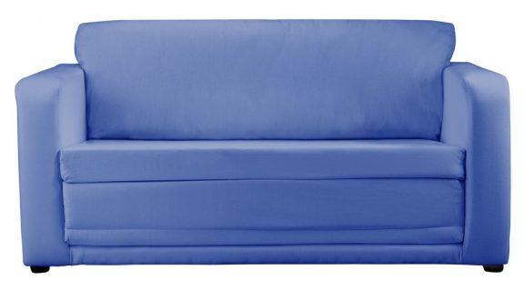 JK Plain Blue Sofa Bed