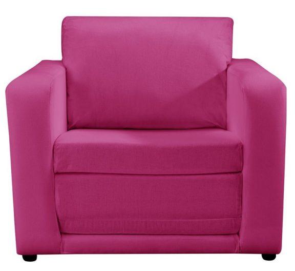 JK Plain Pink Chair Bed