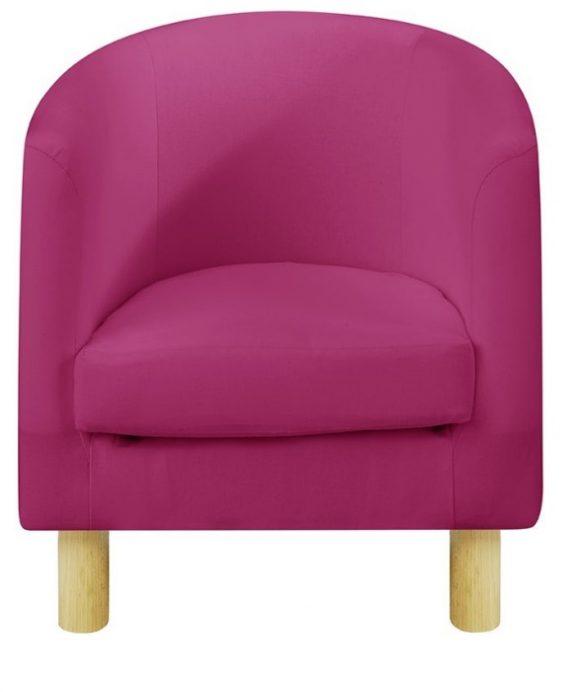 JK Plain Pink Children's Tub Chairs