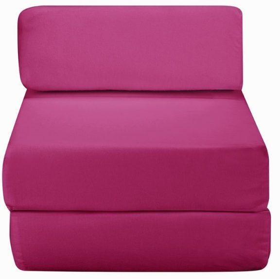 JK Plain Pink Z Bed