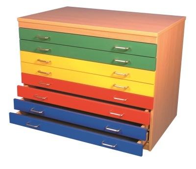 Kielder Multicoloured Plan Chest