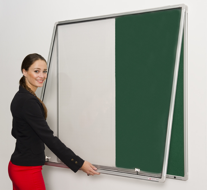 Lockable Pinup Combination Noticeboard and Whiteboard