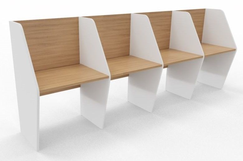 Maximo Single Sided Four Person Desk