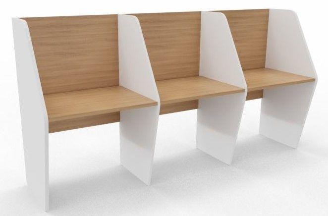 Maximo Single Sided Three Person Desk