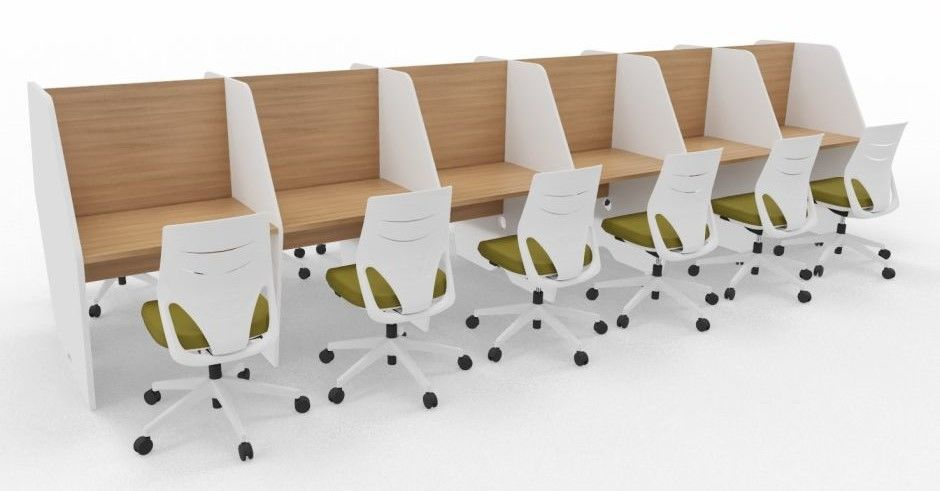 Maximo Twelve Person Double Sided Desk