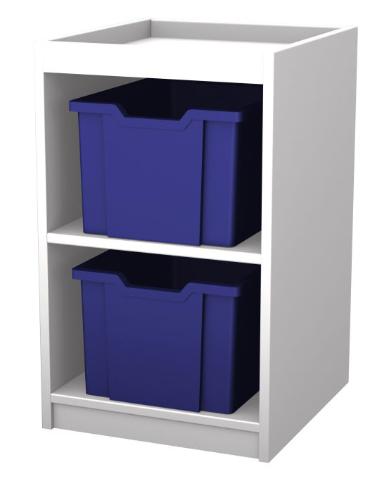 Mexo White and Bright Cube- 2 Drawers