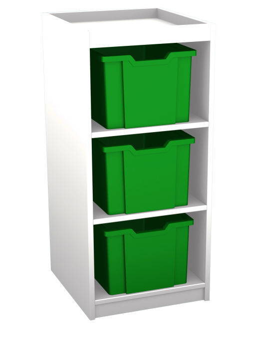 Mexo White and Bright Cube- 3 Drawer