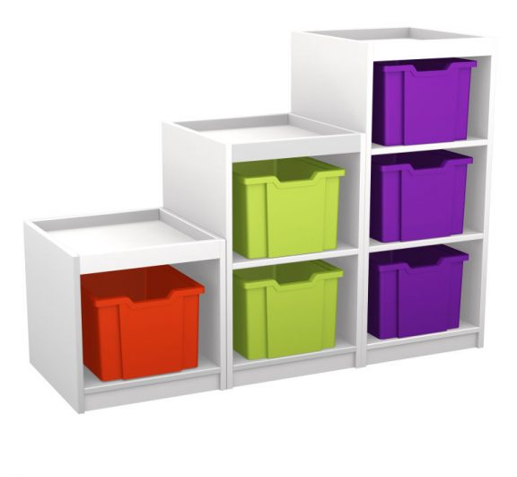 Mexo White and Bright Cube-6 Drawer